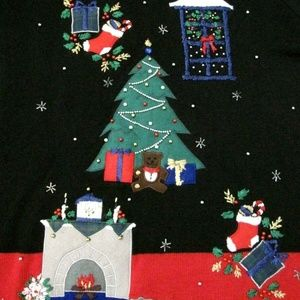 Nutcracker Sweaters - Ugly Christmas Sweater XL Fireplace